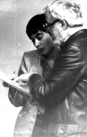З.Я.Корогодский, Е. Вольгуст (1984).<br /> Фото изархива Елены Вольгуст