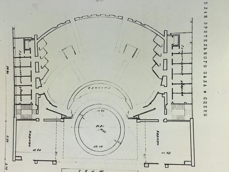 Санкт-Петербургский государственный театр юных зрителей имени А.А.Брянцева. План зрительного зала исцены